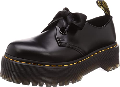 DR MARTENS Womens Holly Buttero Black Smooth Leather Ribbon