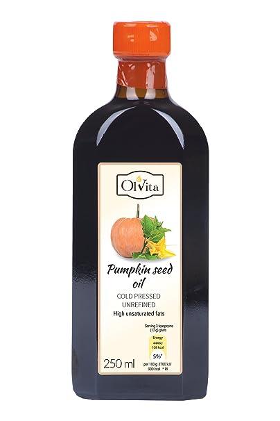 Aceite de semilla de calabaza prensado en frío OlVita sin refinar 250 ml