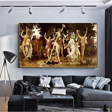 Creación al óleo de Adam Pinturas sobre lienzo en la pared Arte de ...