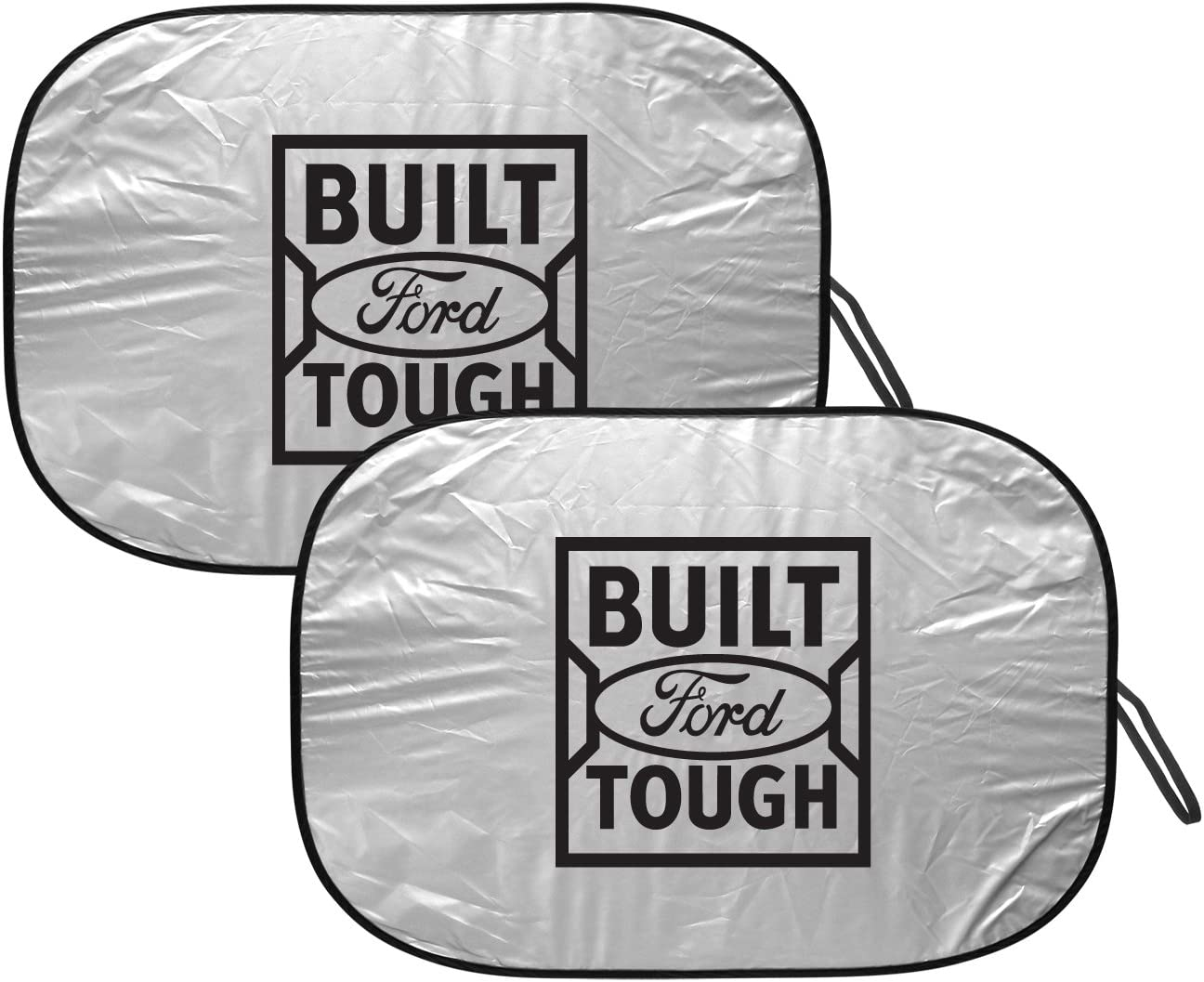 Built Ford Tough Universal Fit 32 x 28 Dual Panel Folding Windshield Sunshade
