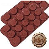 Marijuana Leaf Embossed Silicone Chocolate Candy Mold Ice Cube Trays 2 Pack