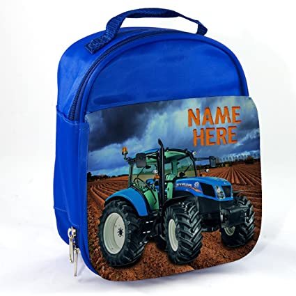 Personalised New Holland Tractor Nst001 Blue Childrens Insulated School  Lunch Box Cooler Bag  Amazon.co.uk  Kitchen   Home 3363630e28f76