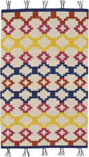 product image for Capel Rugs Genevieve Gorder Hyland Rectangle Flat Woven Rug, 7' x 9', Red Yellow