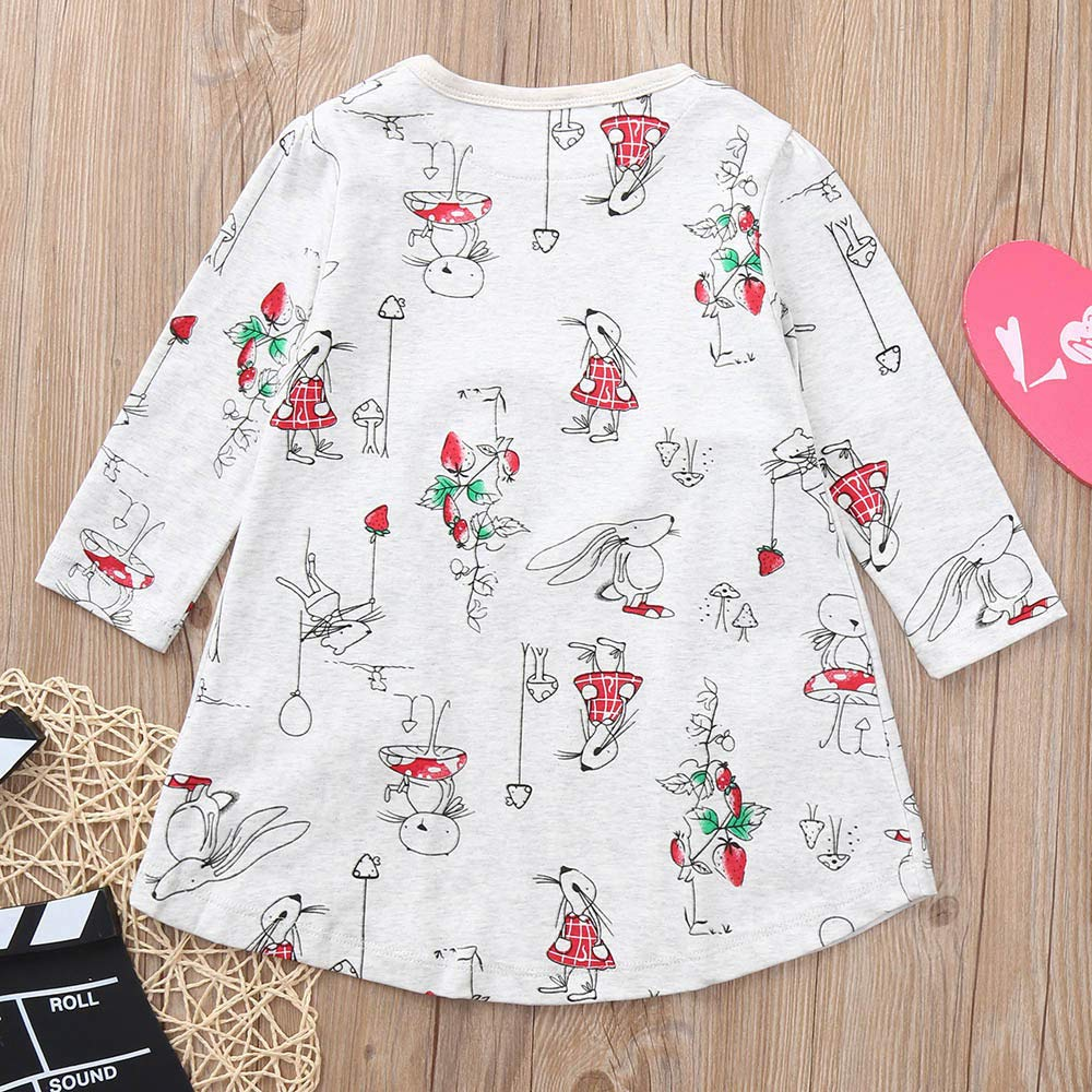 Memela Baby Clothes,Baby Teen Girls Casual Floral Princess Dress Mouse Set Long Sleeves