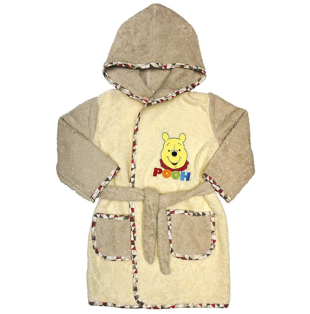 Disney Baby Kinder-BADEMANTEL Jungen mit Mickey Mouse Motiv 110-116 Baumwolle Frotteer 98-104 Baby-Handtuch mit Taschen in Gr/össe 86-92 Kapuzen-BADETUCH