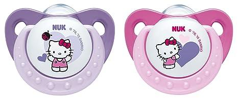 NUK chupete de silicona 10175104 Trendline Hello Kitty Tamaño 1 (0-6 ...