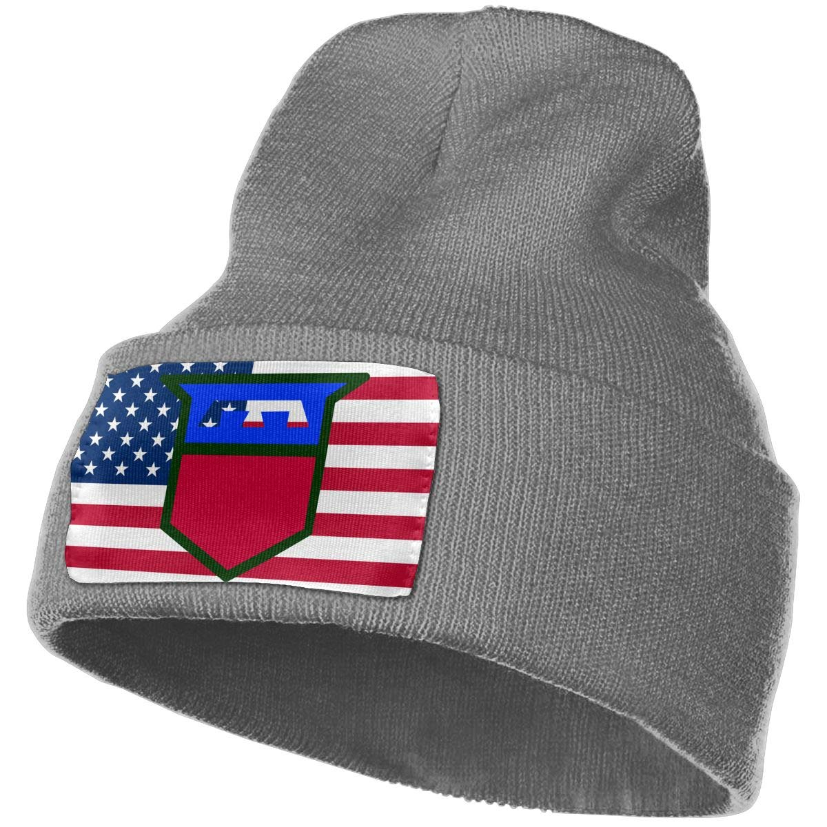 76th Infantry Division Men/&Women Warm Winter Knit Plain Beanie Hat Skull Cap Acrylic Knit Cuff Hat