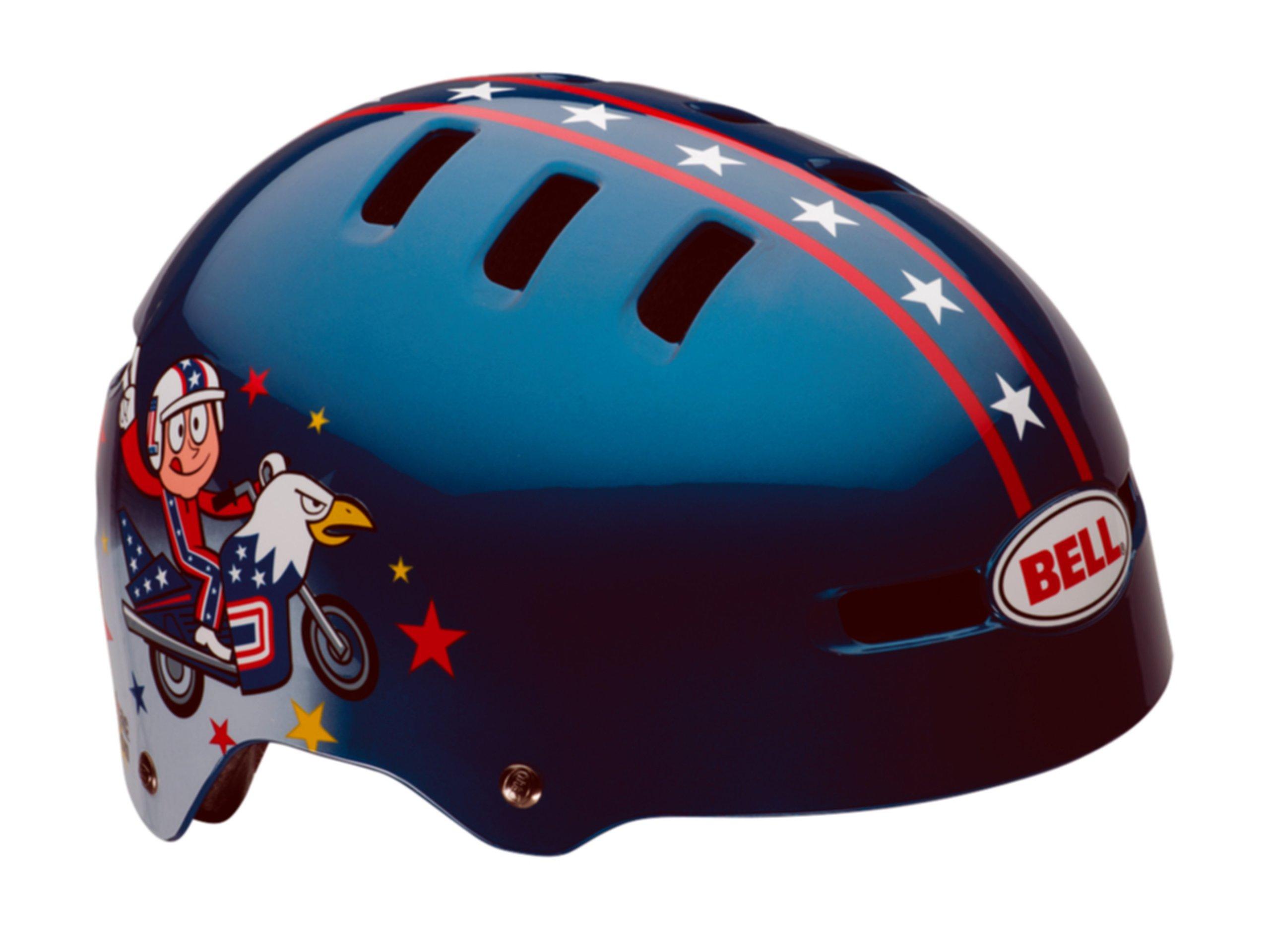 Bell Fraction Youth Multi-Sport Kid Knievel Helmet (Blue, X-Small)