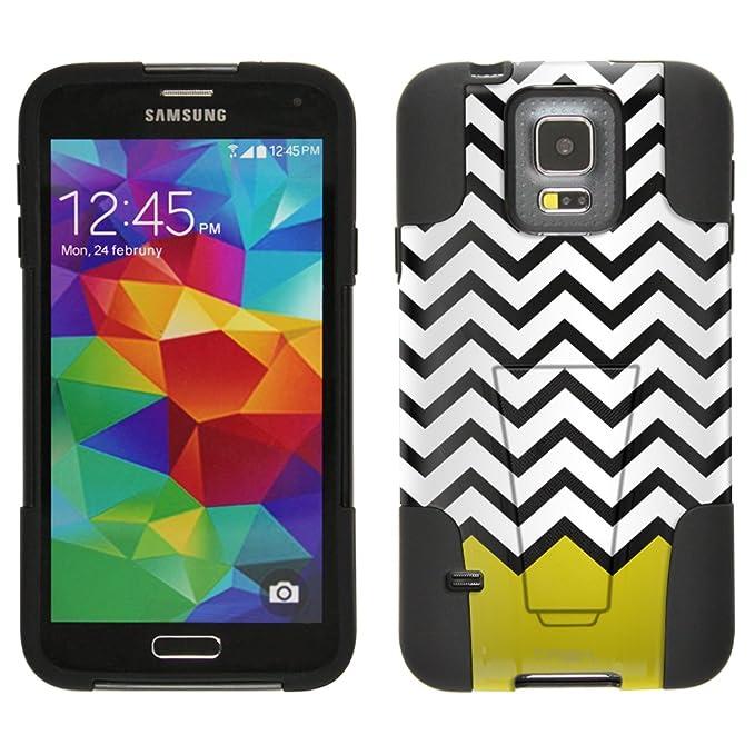 Samsung Galaxy S5 carcasa Cheurón blanco negro amarillo ...