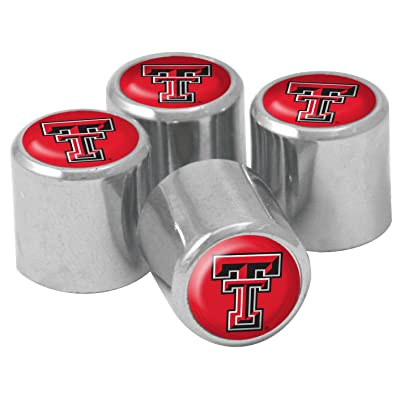 NCAA Texas Tech Red Raiders Metal Tire Valve Stem Caps, 4-Pack: Sports & Outdoors