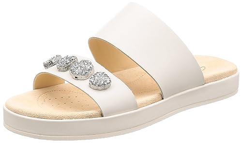 7d44d4592b8e Clarks Women s Botanic Lily White Leather Fashion Sandals-3.5 UK India (36  EU