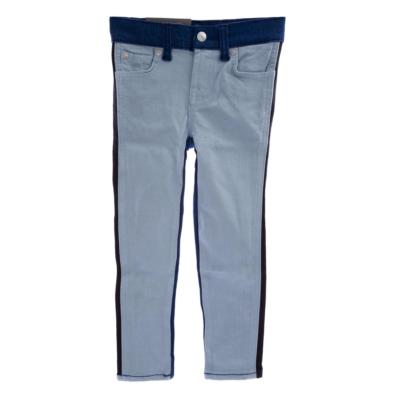 7 for All Mankind Girls The Skinny Legging Jeans, 4 Indigo Blocked