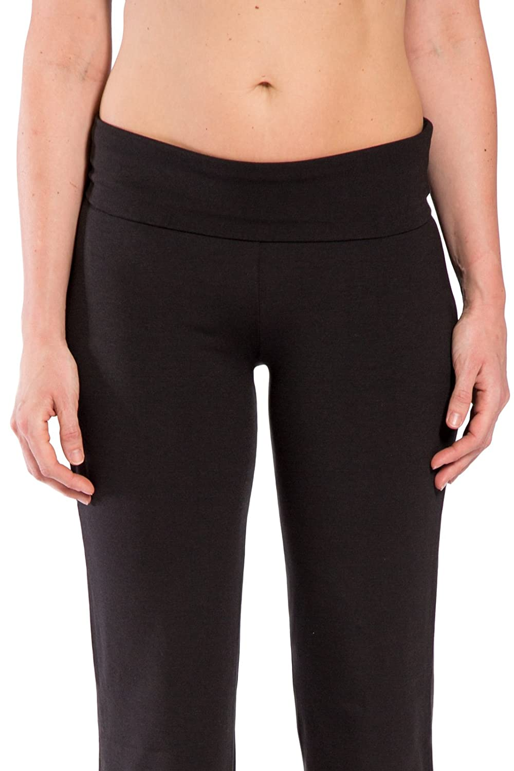 Fishers Finery Womens Ecofabric Fold Over Yoga Pant Bootleg Athletic Pant WV-01-YP1-061