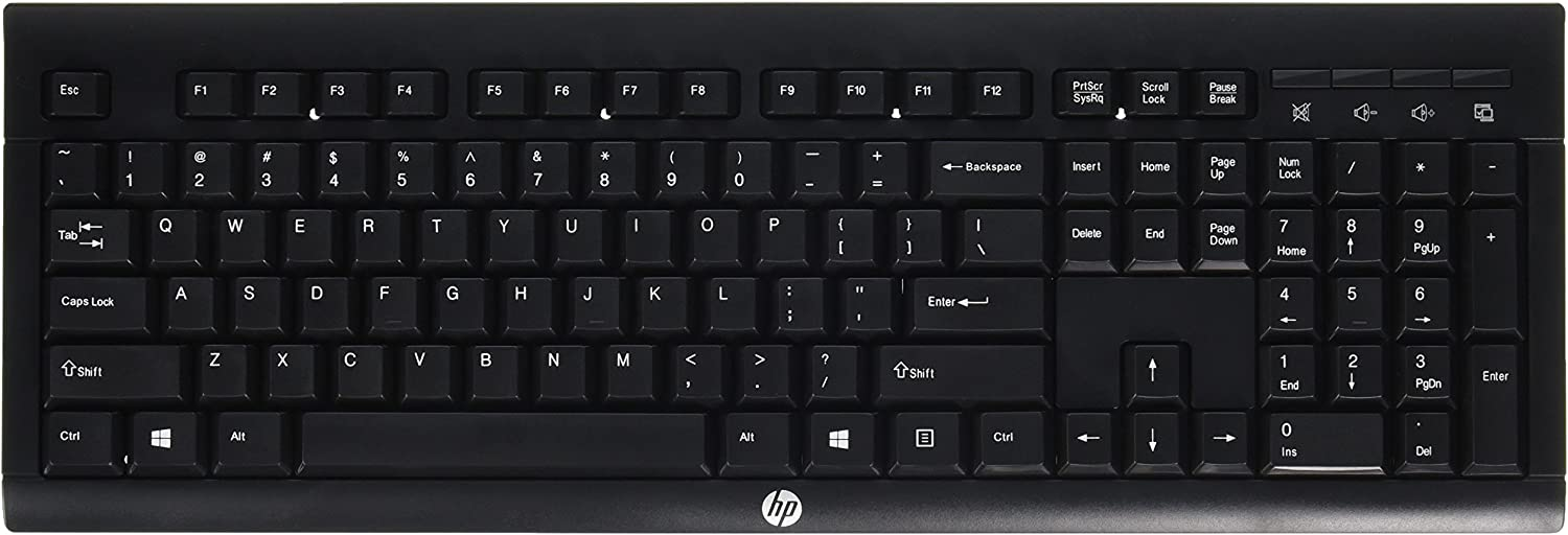 HP K2500 Wireless Keyboard US - E5E77AA#ABA, Black