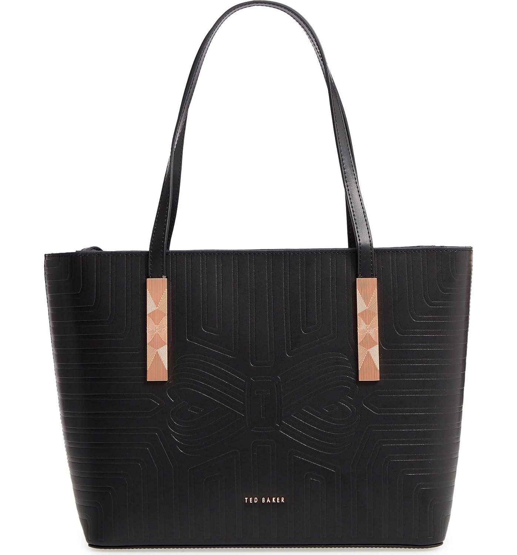 [テッドベーカー] レディース トートバッグ Ted Baker London Bow Embossed Leather Sh [並行輸入品] B07DRD8ZX8One-Size