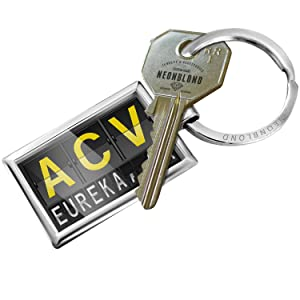 NEONBLOND Keychain ACV Airport Code for Eureka, CA