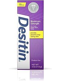 Desitin Maximum Strength Baby Diaper Rash Cream with 40% Zinc Oxide for diaper rash Relief & Prevention, 4 oz