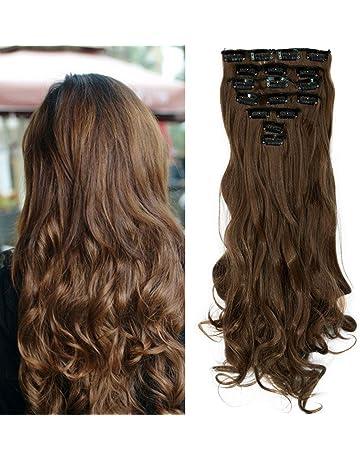 S-noilite® Set 8pcs 43cm extension capelli clip nelle estensioni dei capelli  della parte 0560169c375e