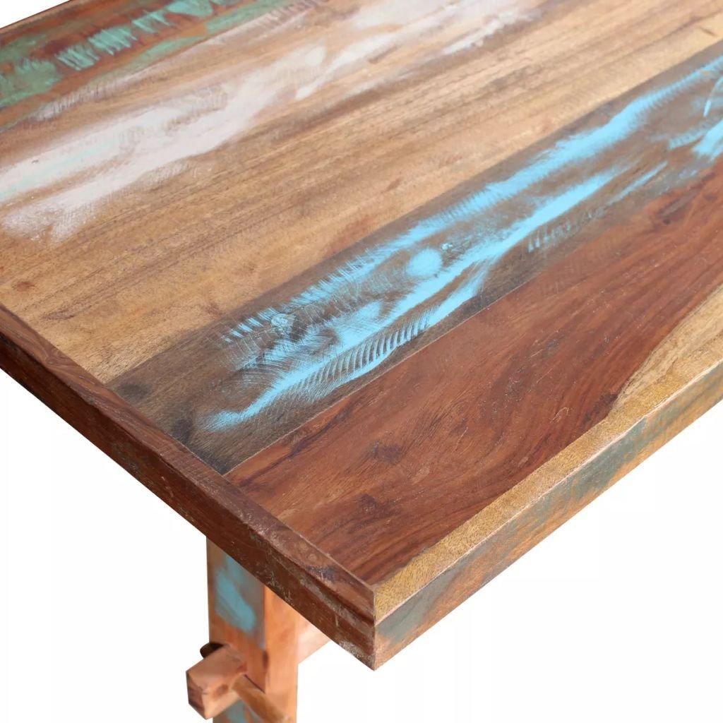 vidaXL Tavolo Pranzo in Legno Massello Anticato 120x58x78 cm Tavola da Cucina