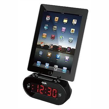 Amazon.com: Dok Reloj despertador con cargador universal ...