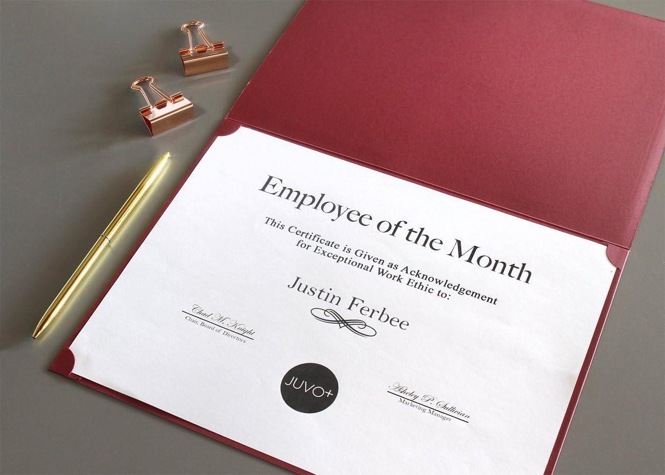 12-pack certificate Holder/ /diploma di documento oro 28,4/x 22,4/cm rosso copertura per letter-sized Award certificati
