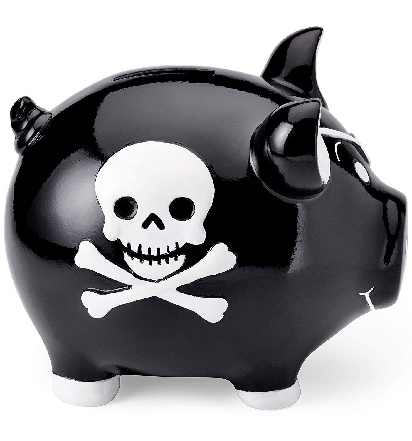 Mousehouse Gifts childrens pirate themed piggy bank money box gift for a boy or a girl