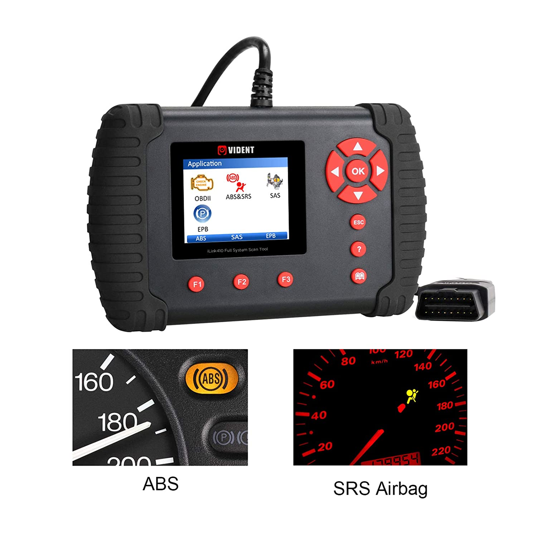 GOGOLO VIDENT ILINK410 OBD2 EOBD ABS SRS Airbag Reset Tool