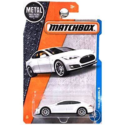 Matchbox 2020 MBX Adventure City Tesla Model S 26/125, White: Toys & Games