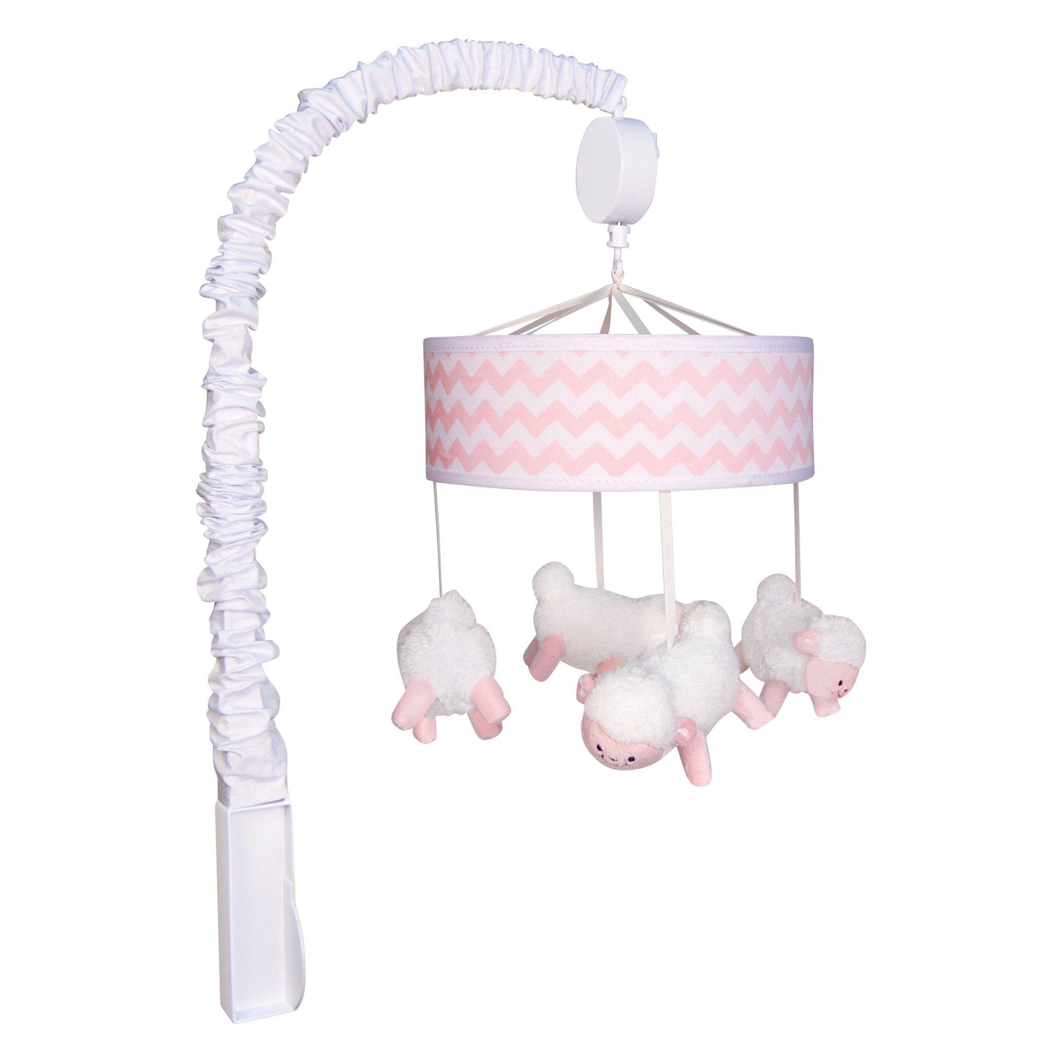 Trend Lab Pink Sky Musical Mobile, Pink