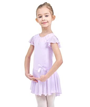 7afcd2fa0 Amazon.com  Ferlema Girls  Skirted Ballet Leotard with Snap Crotch ...