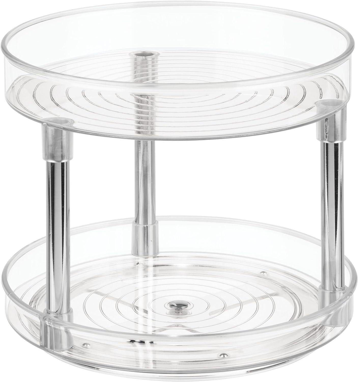 iDesign Küchen Organizer, großer Drehteller mit 17 Ebenen aus BPA-freiem  Kunststoff für den Vorratsschrank, drehbarer Gewürzhalter für Vorratsdosen  und