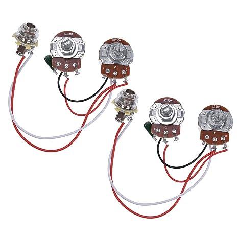 amazon com bass wiring harness prewired kit for precision bass rh amazon com Custom Guitar Wiring Harness Custom Guitar Wiring Harness