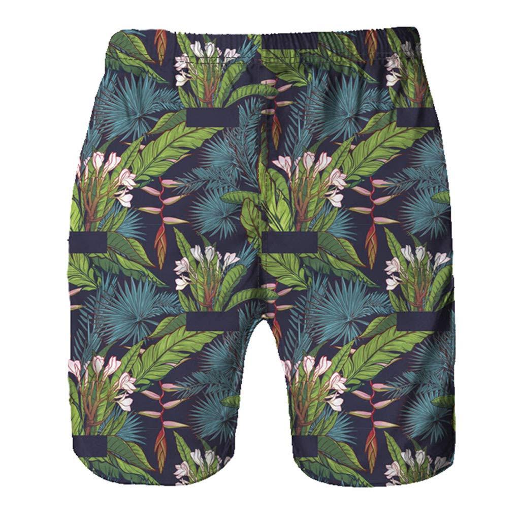 Molyveva Swimming Trunks Drawstring Summer Beach Shorts for Man