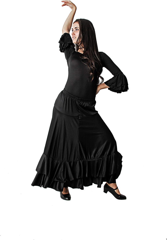 Costumizate! Falda Doble Volante Negro/Falda de ensayo con Doble ...