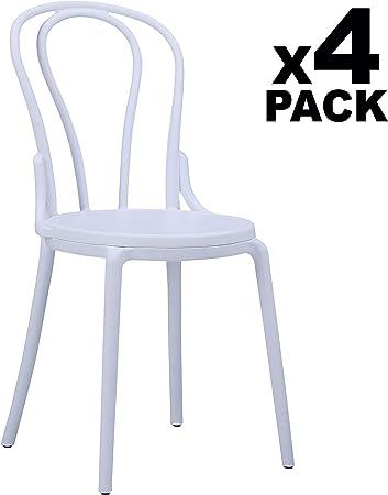 Adec - Thonet, Pack de 4 sillas de salón, Comedor, Cocina o ...