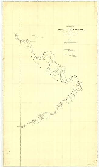 20 Mile River Alaska Map.Amazon Com Vintography 16 X 20 Glossy Nautical Map Printed On Metal