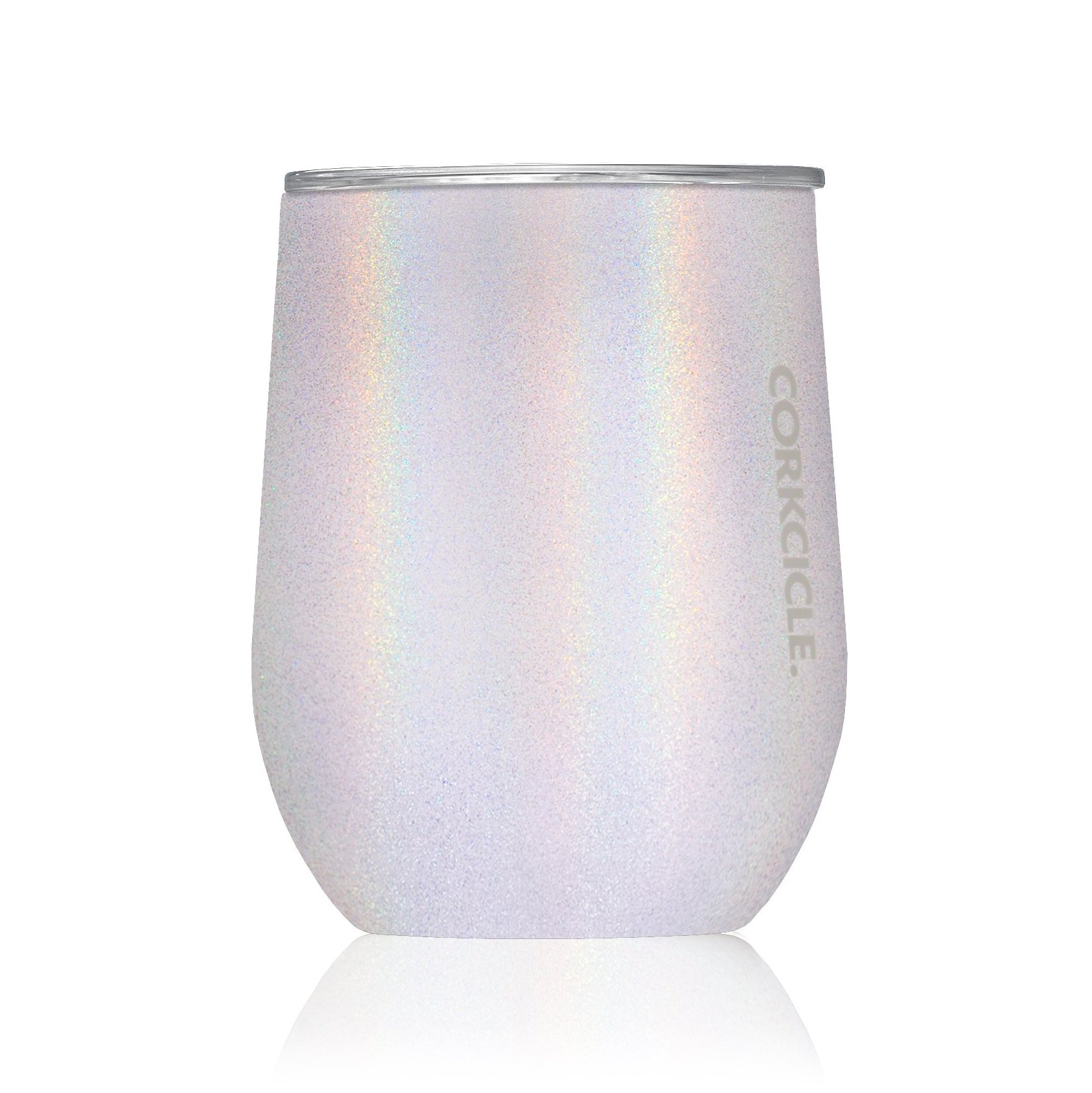 Corkcicle 12 oz Triple-Insulated Stemless Glass (Perfect for Wine) - Unicorn Magic