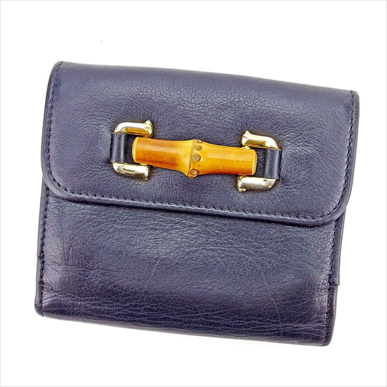 グッチ GUCCI Wホック財布 二つ折り財布 財布 ユニセックス バンブー 中古 T2737 B0772S7BQM