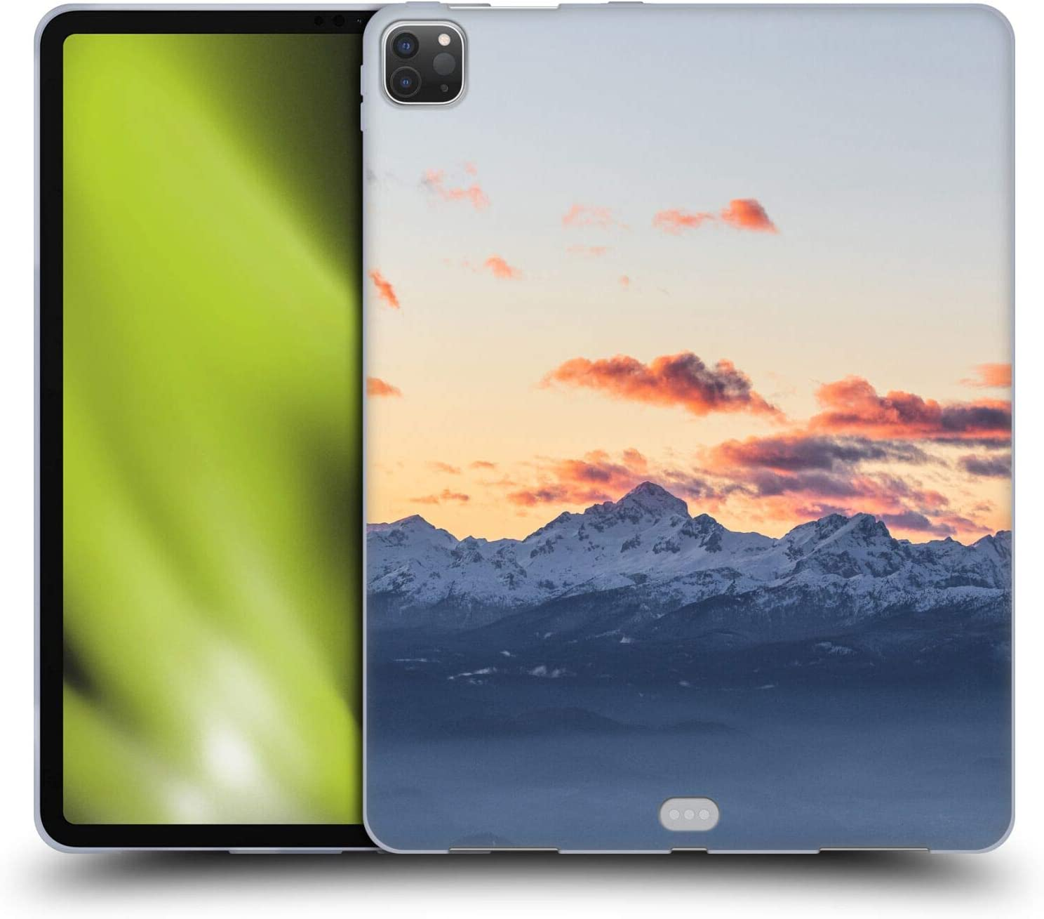 Head Case Designs Officially Licensed Patrik Lovrin Orange Clouds Above Triglav Majestic Mountains at Sunset Soft Gel Case Compatible with Apple iPad Pro 12.9 (2020 / 2021)