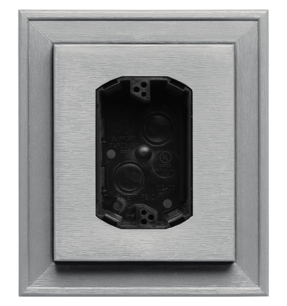 Builders Edge 130110010030 Electrical Mounting Block 030, Paintable The TAPCO Group - DROPSHIP