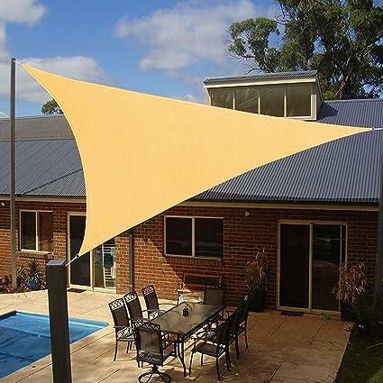 Amazon Com Artpuch 12 X 12 X 12 Triangle Sun Shade Sails 185gsm Shade Sail Uv Block For Patio Garden Outdoor Facility And Camping Garden Outdoor