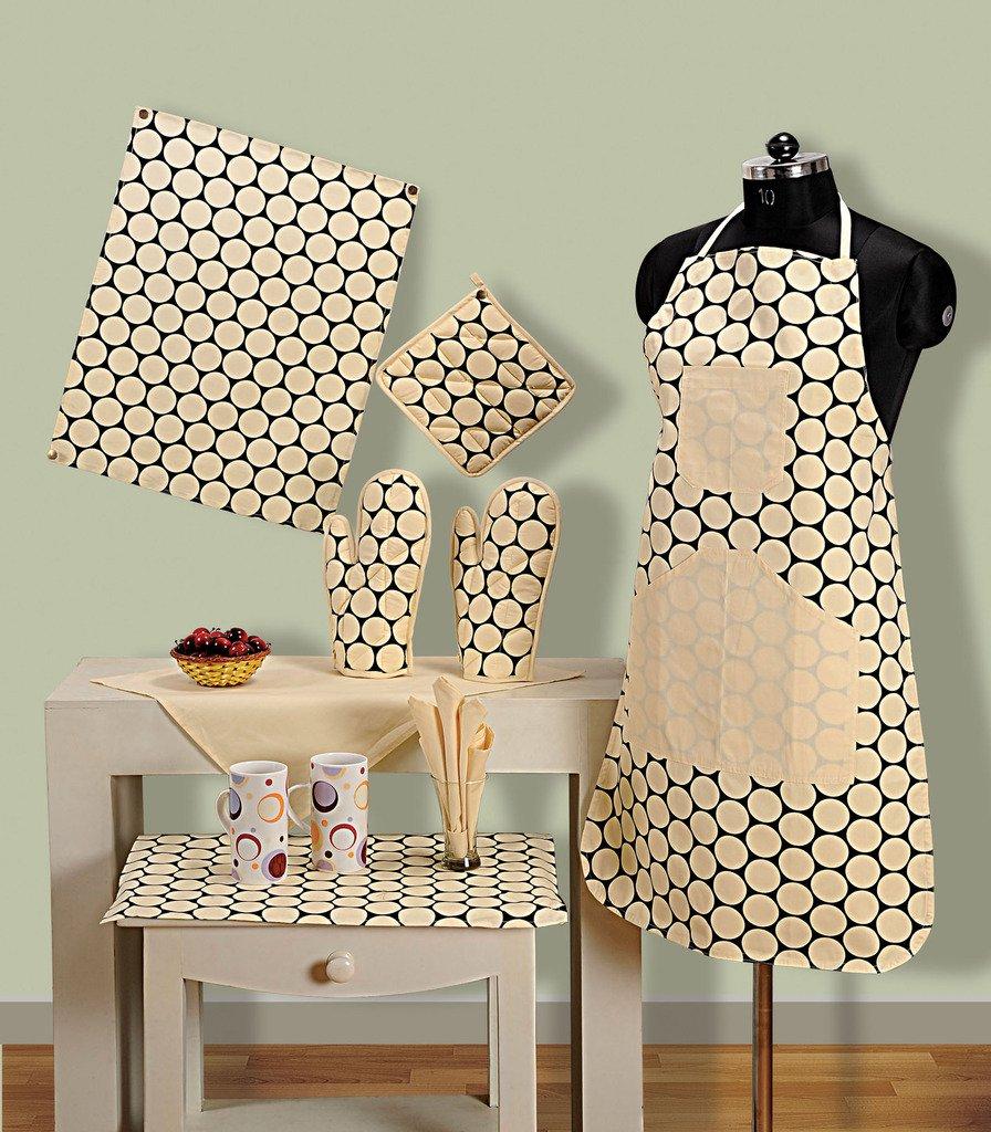Kitchen Linen Set: New Kitchen Linen Oven Gloves Napkin Apron Set Cooks Men