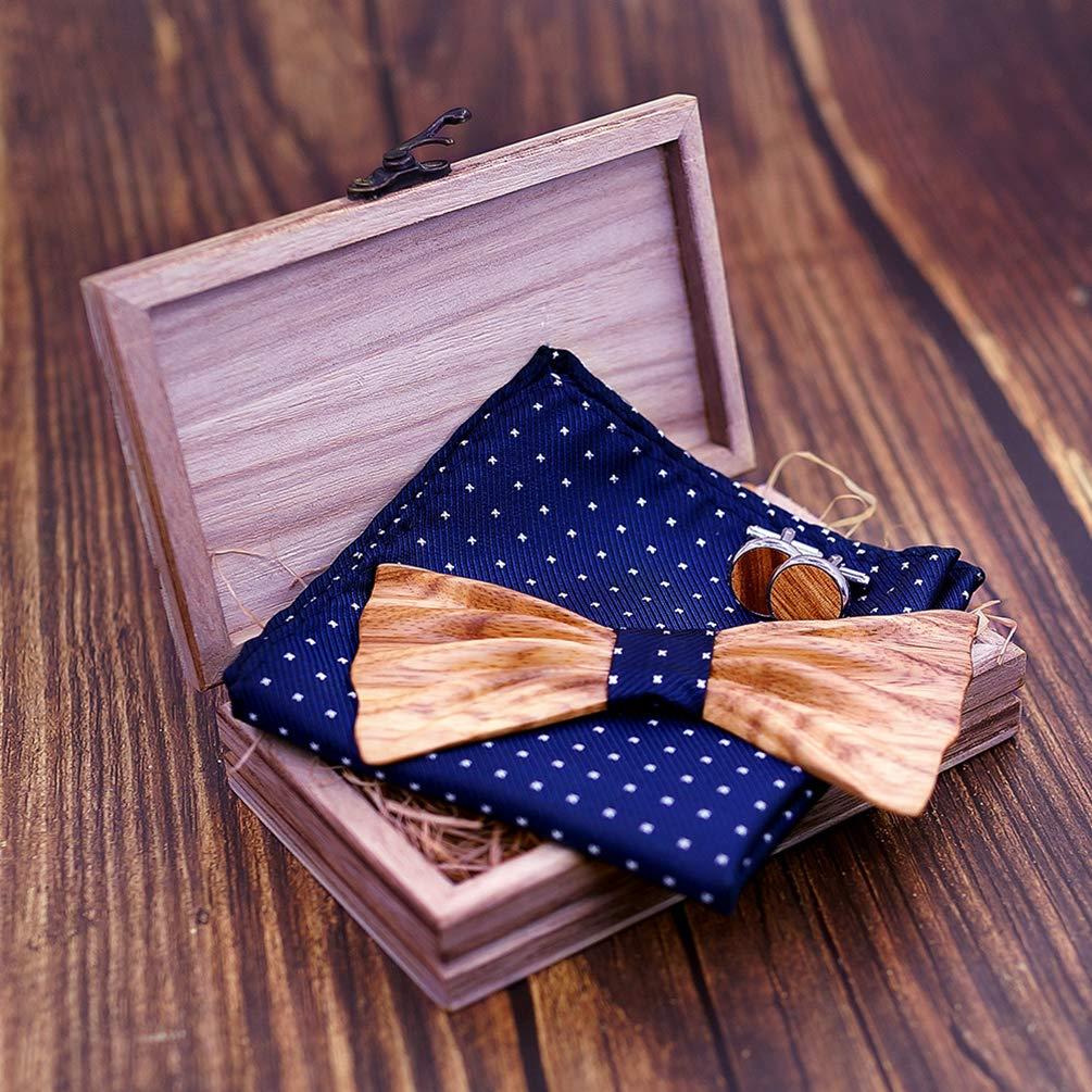 Lvguang Mode Classique Hommes Noeud Papillon en Bois Meilleur Cadeau pour Les Hommes