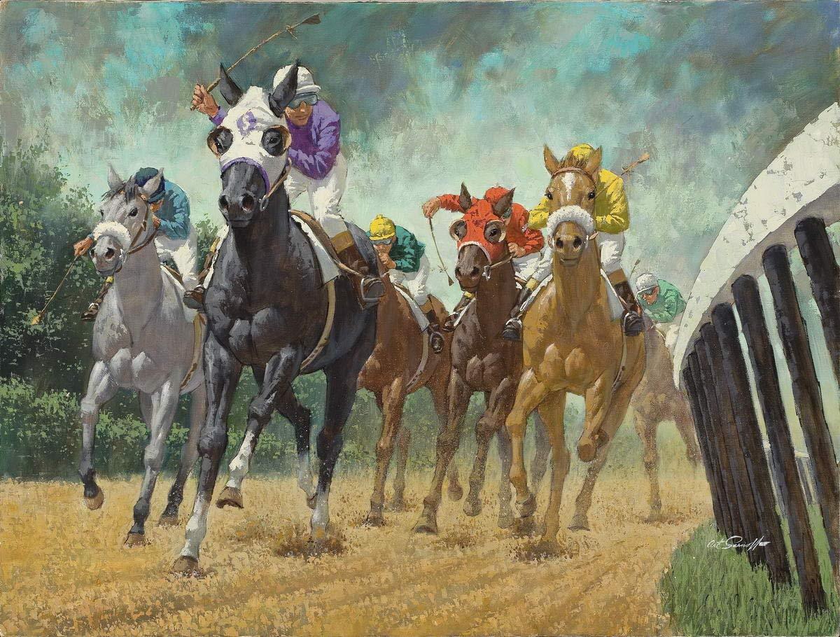 Berkin Arts Arthur Saron Srnoff Giclee Lienzo Impresión Pintura póster Reproducción (Perros Jugando al Billar): Amazon.es: Hogar
