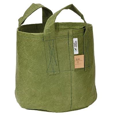 Root Pouch Non-Degradable Reusable Grow Bag, 5-gallon with Handles (Green) : Garden & Outdoor