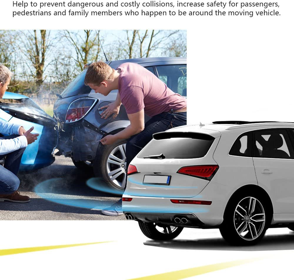 Plata sistema del radar del aparcamiento con 4 sensores prenda impermeable reversa del equipo del radar de la vista posterior del coche Winbang Equipo del radar del aparcamiento