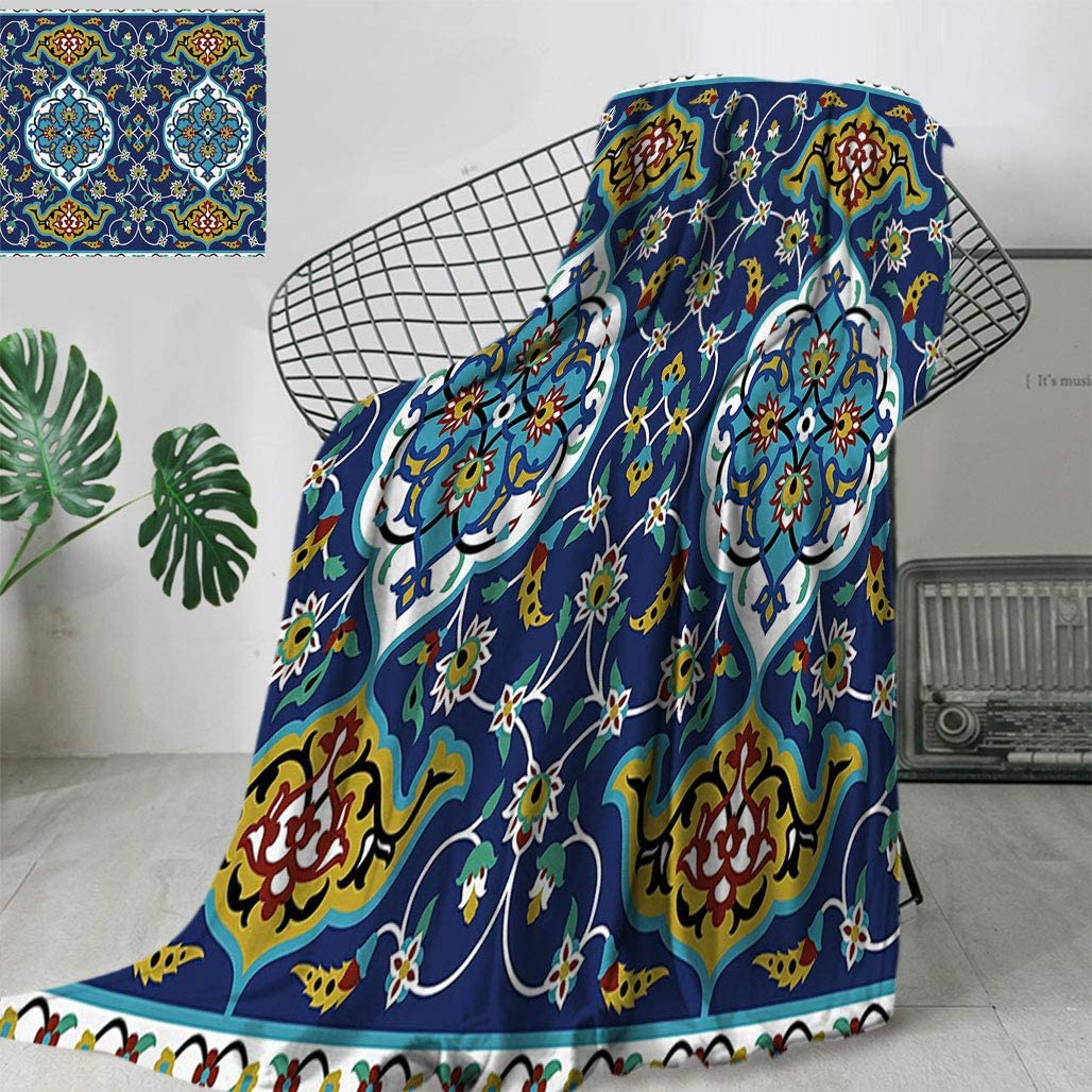 Moroccan Cool Jacket,Authentic Oriental Motif with Vintage Byzantine Style Tile Effects Artwork for Travel,S