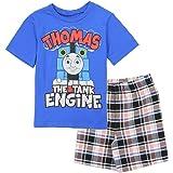 Thomas and Friends Little Boys' Toddler 2 Piece Plaid Shorts Set