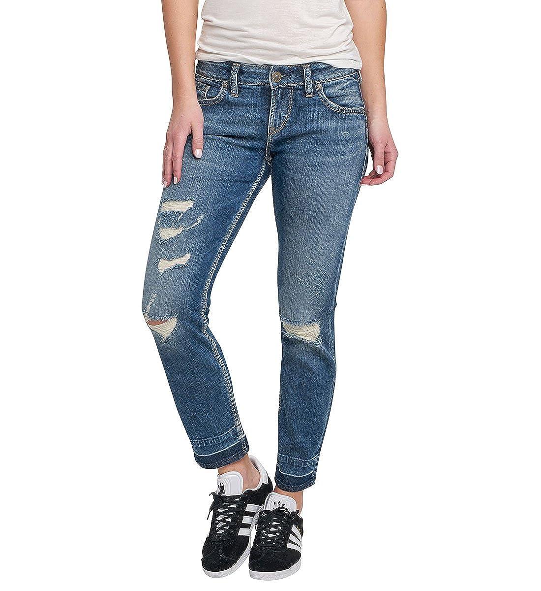 f8a7b29f55a29 Amazon.com  Silver Jeans Co. Women s Sam Mid Rise Boyfriend Jeans  Clothing