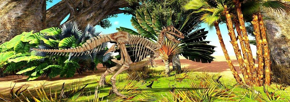 Wechselbild Dinosaurier:T-REX DINO WANDERT DURCH DEN URWALD 8 Wechselbilder in einem Lesezeichen Lustiges Lentikular-Lesezeichen mit Wackelbild Nr.10212